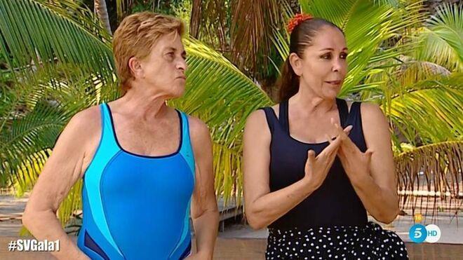 Chelo García Cortés e Isabel Pantoja en 'Supervivientes'
