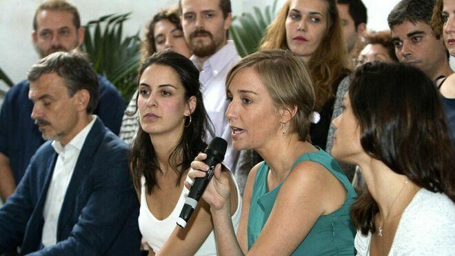 Rita Maestre, Tania Sánchez, José Manuel López y Clara Sierra en Madrid