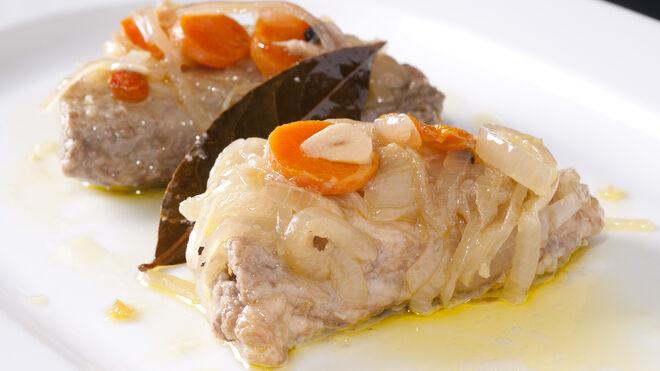 Ventresca de atún blanco en escabeche del restaurante Ponzano