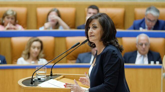 La candidata socialista a la Presidencia del Gobierno riojano, Concha Andreu