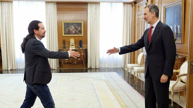 Iglesias y Felipe VI en su encuentro en junio de 2019