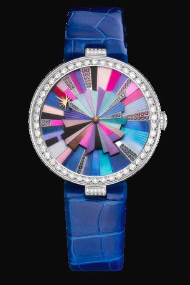 Reloj Jumping Hour en su versión azul océano