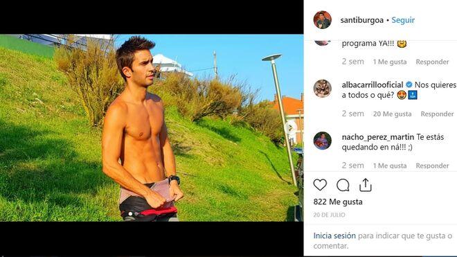 Santi Burgoa, piropeado en Instagram por Alba Carrillo