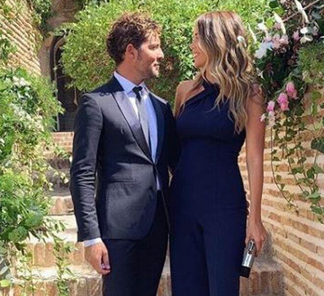 David Bisbal y Rosanna Zanetti, en la boda de Melendi.