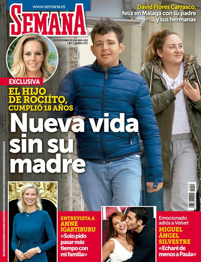 Los hijos de Rocío Carrasco y Antonio David en 2017