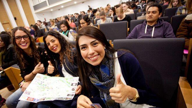 Estudiantes Erasmus en la Universidad de Sevilla.