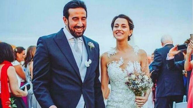 Inés Arrimadas y Xavier Cima el día de su boda