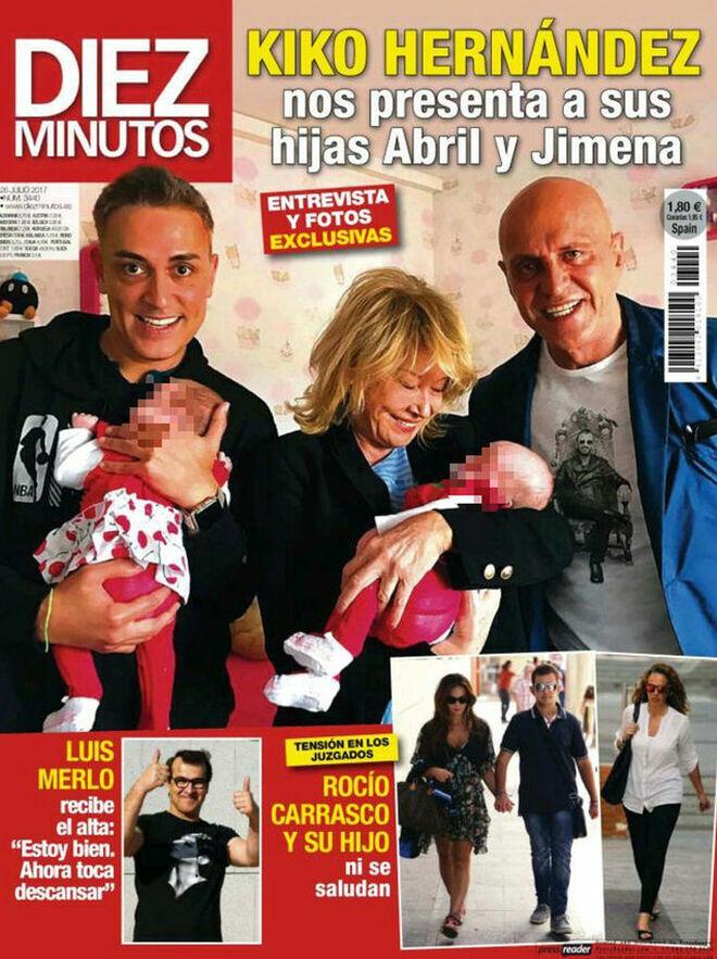 Cuando Kiko presentó a sus hijas en una revista
