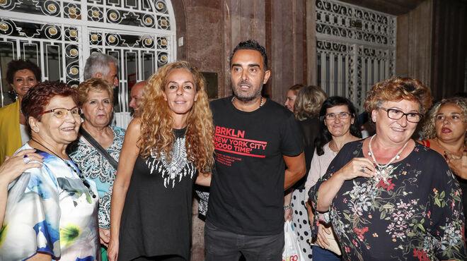 Rocío Carrasco y Fidel Albiac en el estreno del musical 'Qué no daría yo' en septiembre de 2019