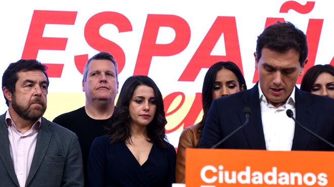 Albert Rivera durante su discurso del 10-N tras conocer los resultados electorales.