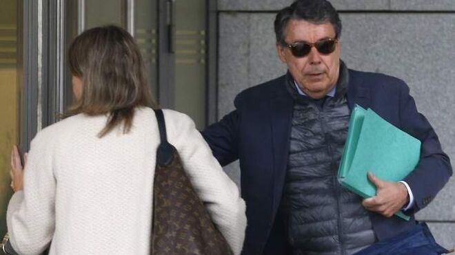 Ignacio González en su última visita a la Audiencia Nacional