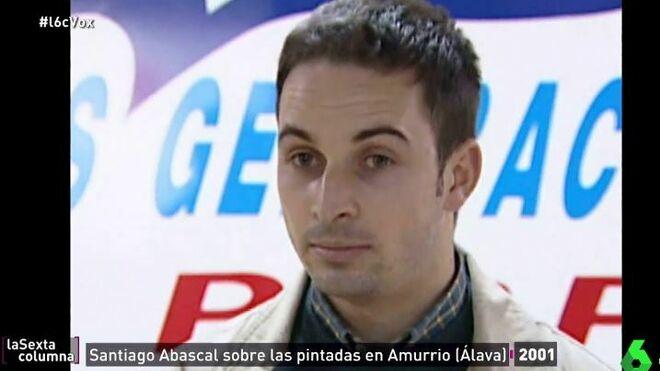 Santiago Abascal, de joven.