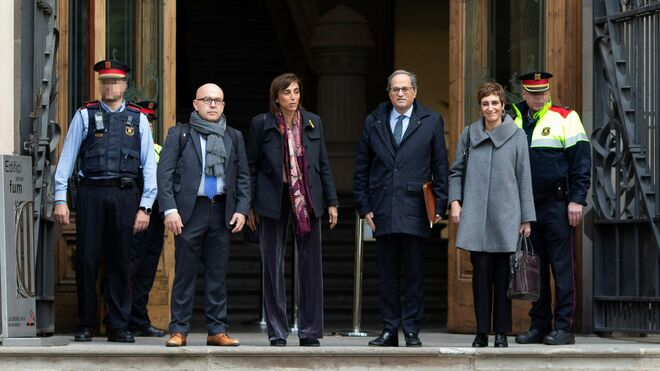 Quim Torra a su llegada al Tribunal Superior de Justicia de Cataluña