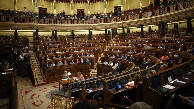 Vista del hemiciclo del Congreso de los Diputados durante una sesión constitutiva de la Cámara Baja.