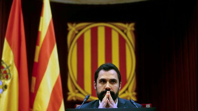 El president del Parlament de Cataluña. Roger Torrent