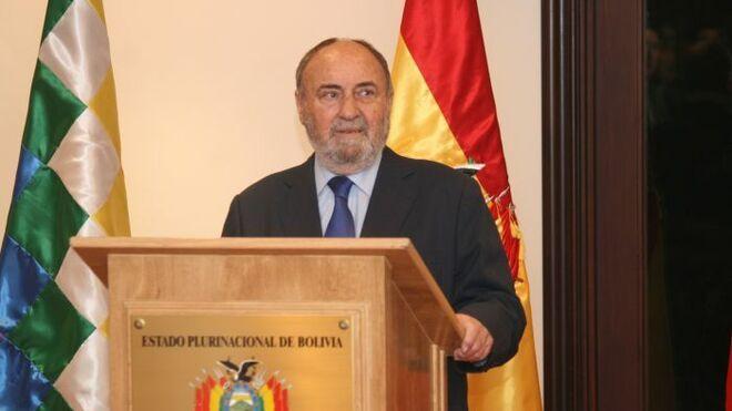 El embajador de España en Bolivia, Emilio Pérez de Ágreda
