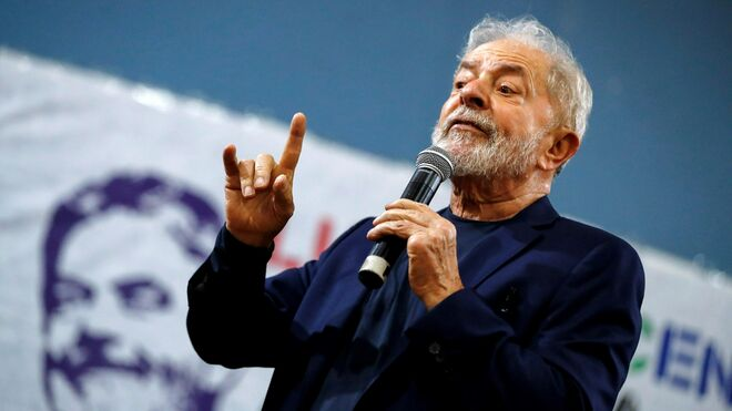 Lula da Silva durante la presentación de su libro.