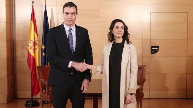 Pedro Sánchez y Inés Arrimadas.