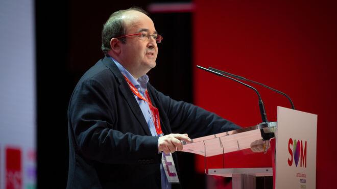 El primer Secretario del PSC, Miquel Iceta, durante el 14 congreso del PSC.