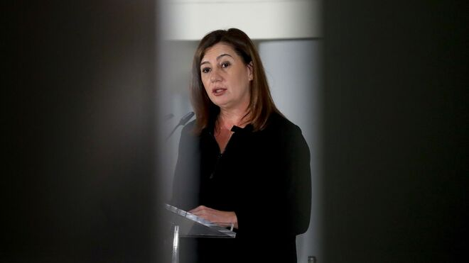 La presidenta de Baleares, Francina Armengol, durante una intervención en Fitur.