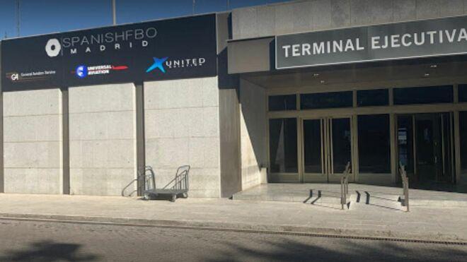 Entrada a la terminal ejecutiva de Barajas