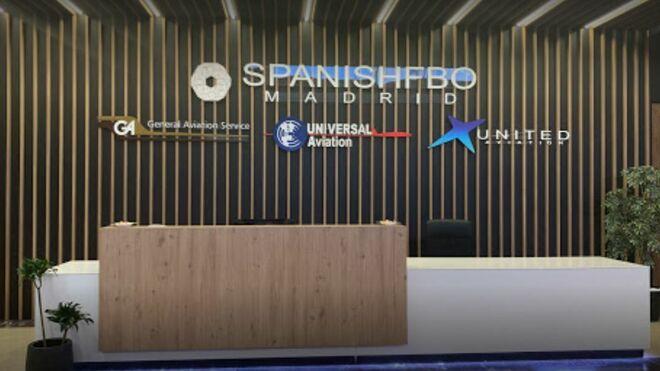 Entrada a la zona VIP de la UTE Spanish FBO