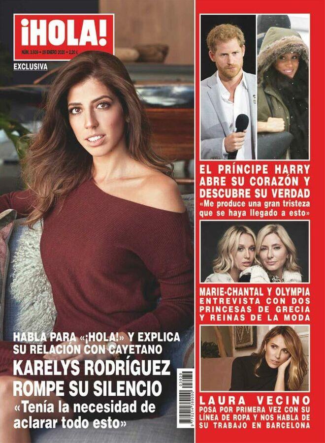 Karelys Rodríguez confiesa que tuvo una relación con Cayetano Rivera en la revista '¡Hola!'.