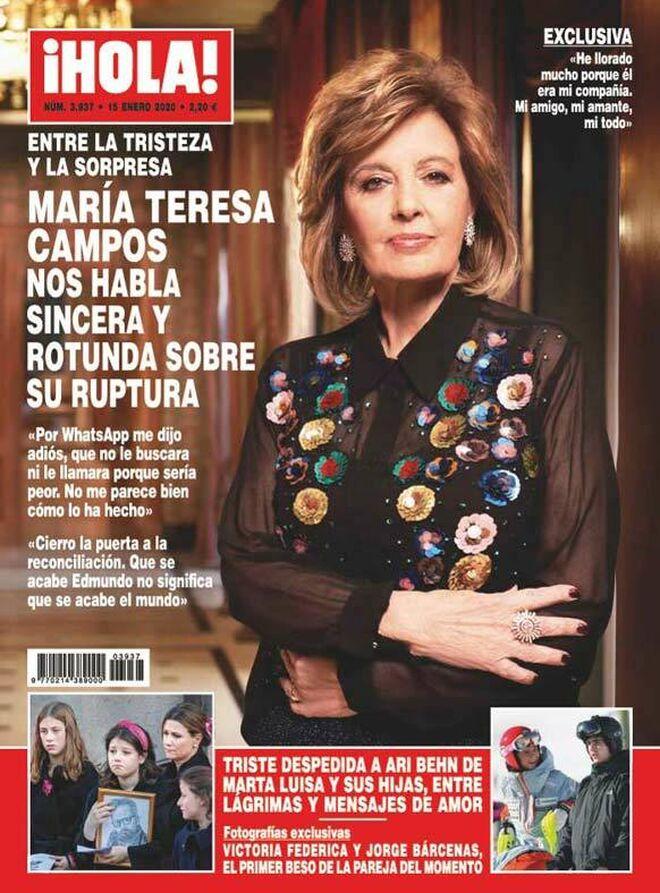 María Teresa Campos rompe su silencio tras la ruptura con Bigote Arrocet ne la revista ¡Hola!