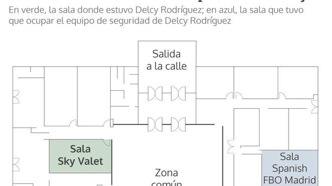 Plano de la terminal de vuelos privados de Barajas