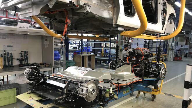 Plataforma de la versión eléctrica del Peugeot 208.