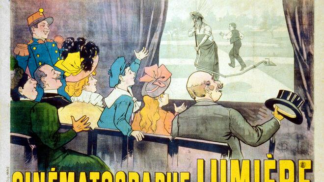 Primera proyección comercial de una película en 1895