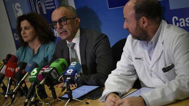 El director general de Salud Pública del Gobierno de Castilla-La Mancha, Juan Camacho, en rueda de prensa en Ciudad Real.