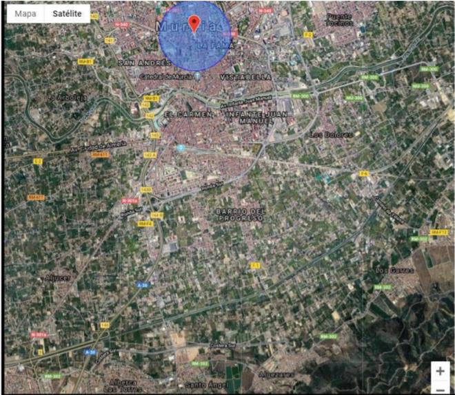 Zona de Murcia capital donde se concentraron el 92% de los votos a favor de Isabel Franco.