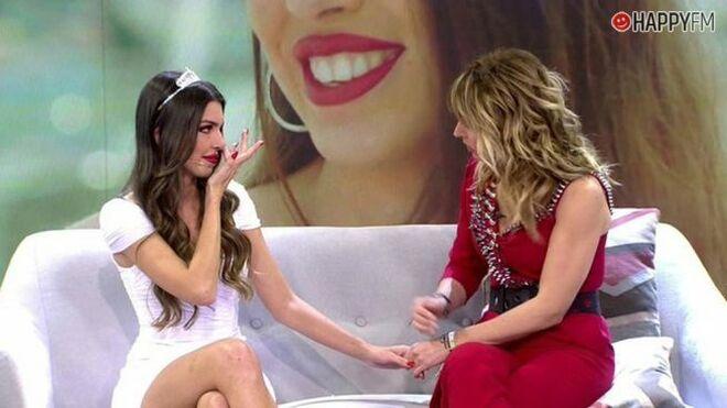 Andrea, llorando en VIva la vida.