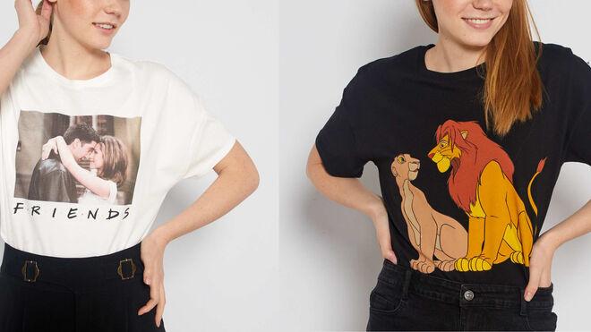 Camisetas con dibujos de películas y series. PVP: 10€ c/u