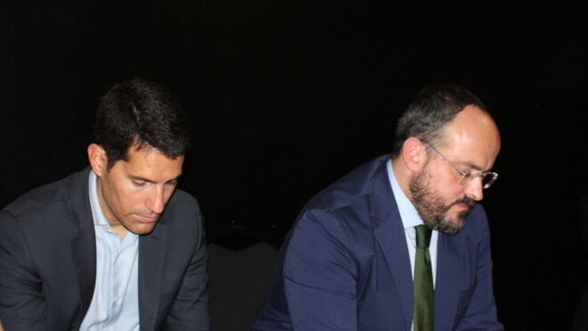 Fernández y Martín Blanco, juntos durante el acto de Dolça Cataluña