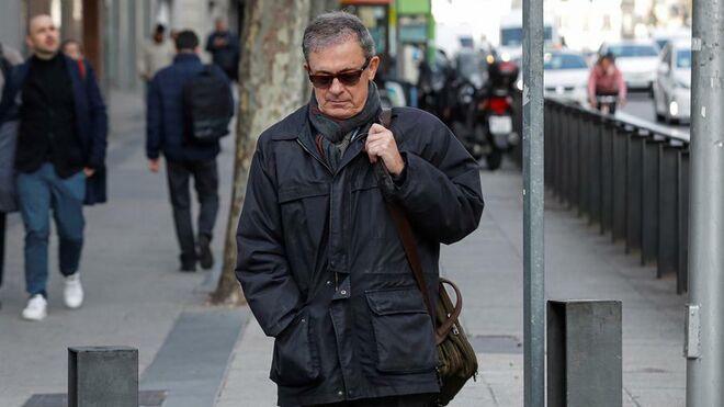 Jordi Pujol Ferrusola tras declarar en la Audiencia Nacional.