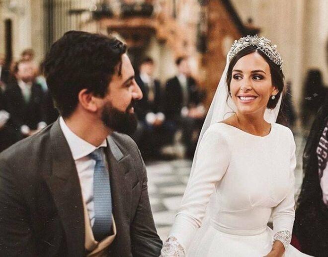 Osorno y Robatto el día de su boda