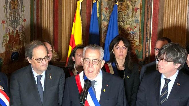 Puigdemont, Comín y Ponsatí, recibidos con honores de Estado en Perpignan
