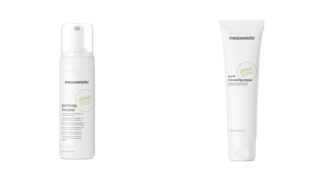 Purifying Mousse, 150 ml. PVP: 30€ // Pure renewing mask, 100 ml. PVP: 35€