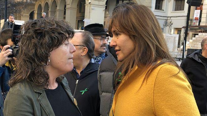 Teresa Jordà (ERC) y Laura Borràs (JxCat) en Lleida.
