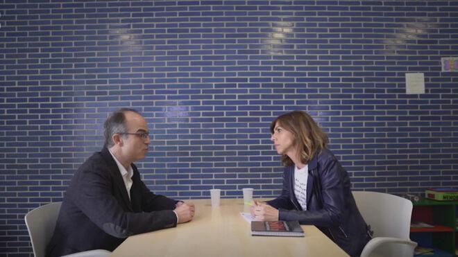 Turull durante su entrevista en TV3