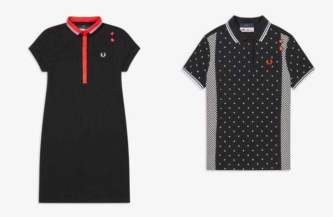 Vestido negro. PVP: 120€ // Polo estampado. PVP: 110€