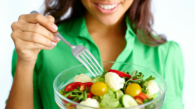 Las ensaladas (sin salsas) siempre son buena opción