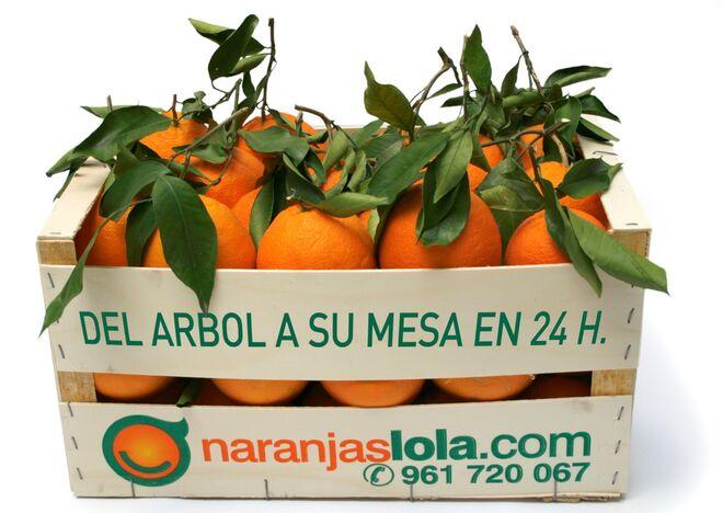 Caja de Naranjas Lola.
