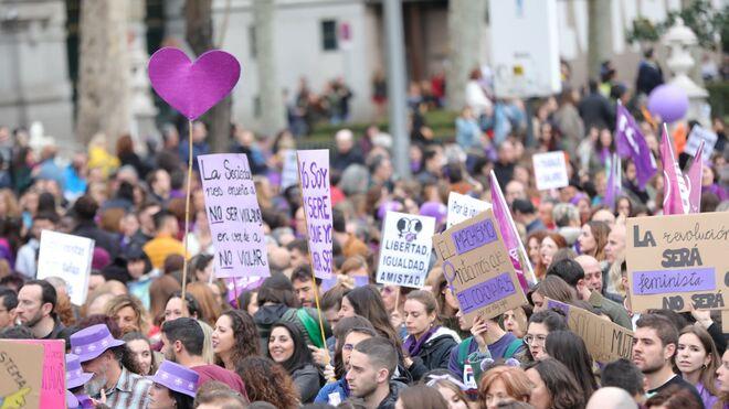 Imagen de la manifestacion del 8-M en Madrid.