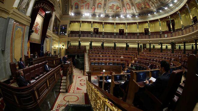 El Congreso está vacío en estos momentos de cuarentena.