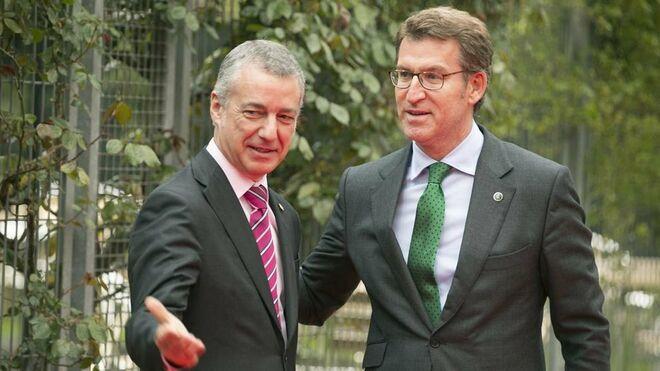 Los presidentes del País Vasco y Galicia, Íñigo Urkullu y Alberto Núñez-Feijóo.