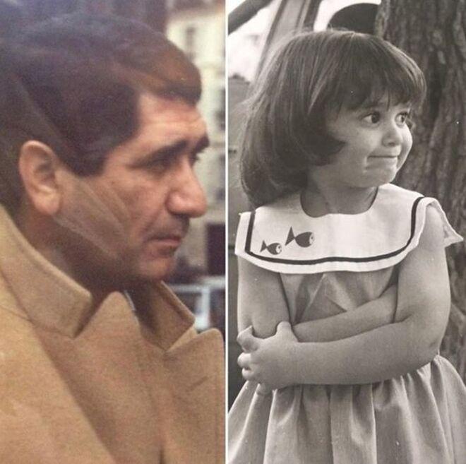 El padre de Ayuso y ella misma de pequeña