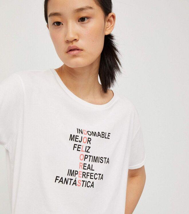 Camiseta de algodón estampada. PVP: 29.90€